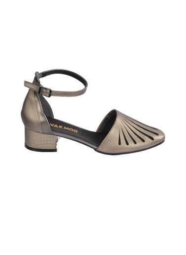 Maje 6033 Ten Kadın Topuklu Ayakkabı Gümüş